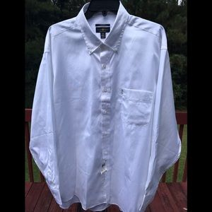 CLUB ROOM REGULAR FIT MEN'S WHITE SHIRT
